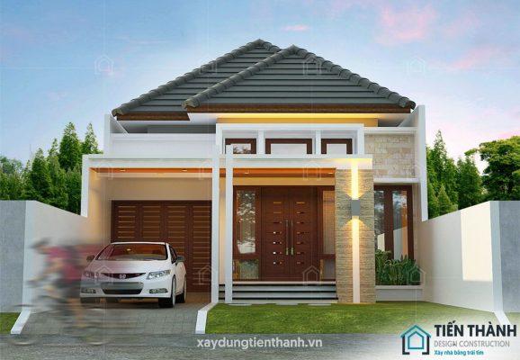 nhung ngoi nha cap 4 dep 578x400 - Những ngôi nhà cấp 4 đẹp nhất hiện đại ở Việt Nam năm 2020