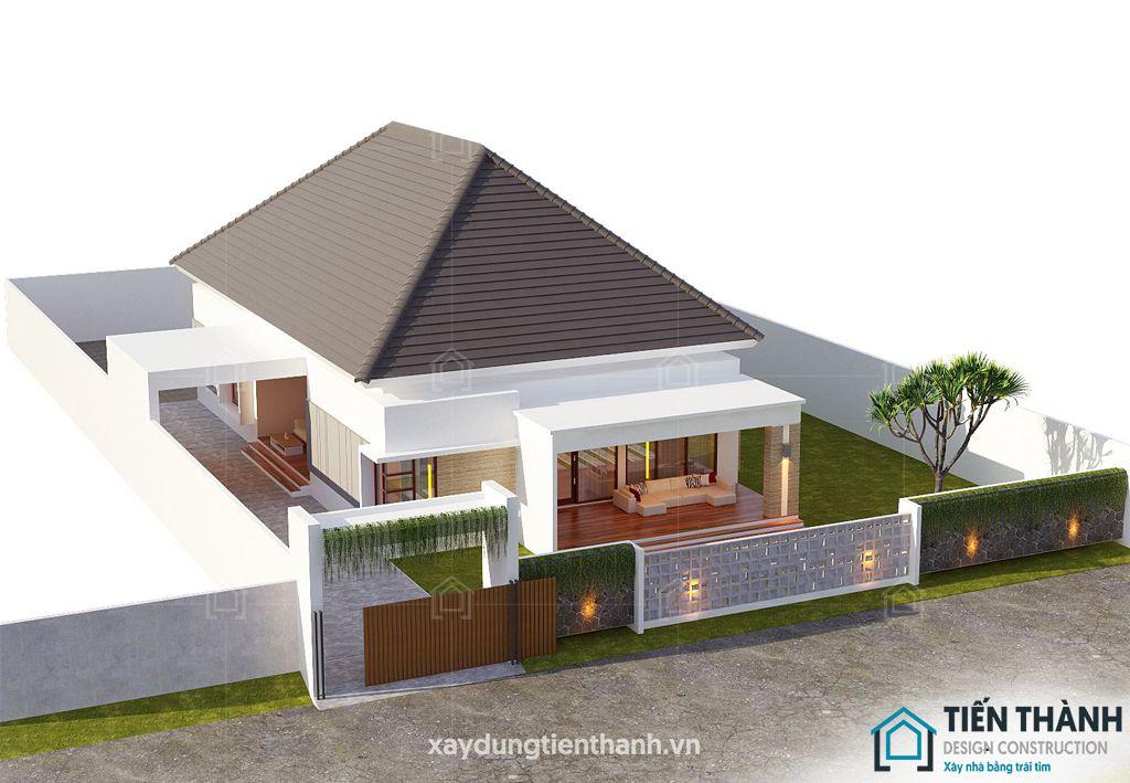 nhung ngoi nha cap 4 dep 8 - Những ngôi nhà cấp 4 đẹp nhất hiện đại ở Việt Nam năm 2020