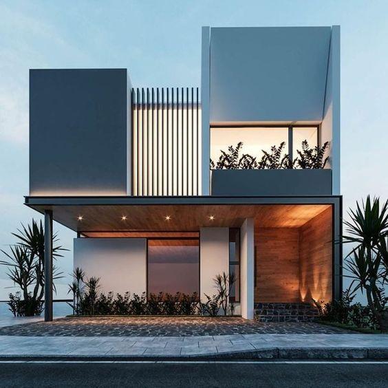 thiet ke nha mat tien 8m sau 5m 2 tang 7 - Thiết kế nhà mặt tiền 8m sâu 5m hiện đại, tiện nghi