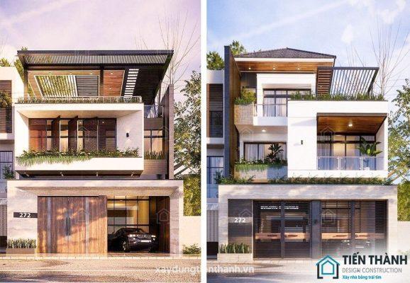 thiet ke nha mat tien 8m sau 5m 578x400 - Thiết kế nhà mặt tiền 8m sâu 5m hiện đại, tiện nghi