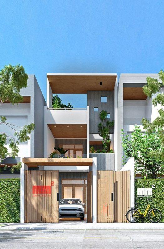 xay nha 1 tret 1 lau gia re 4 525x800 - Mẫu nhà xây nhà 1 trệt 1 lầu giá rẻ HOT nhất hiện nay 2021