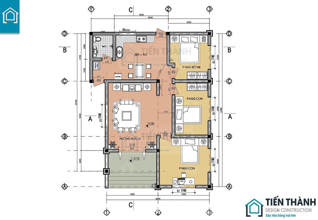 ban ve nha cap 4 3 phong ngu 2 - Tham khảo bản vẽ nhà cấp 4 3 phòng ngủ chi tiết 2020
