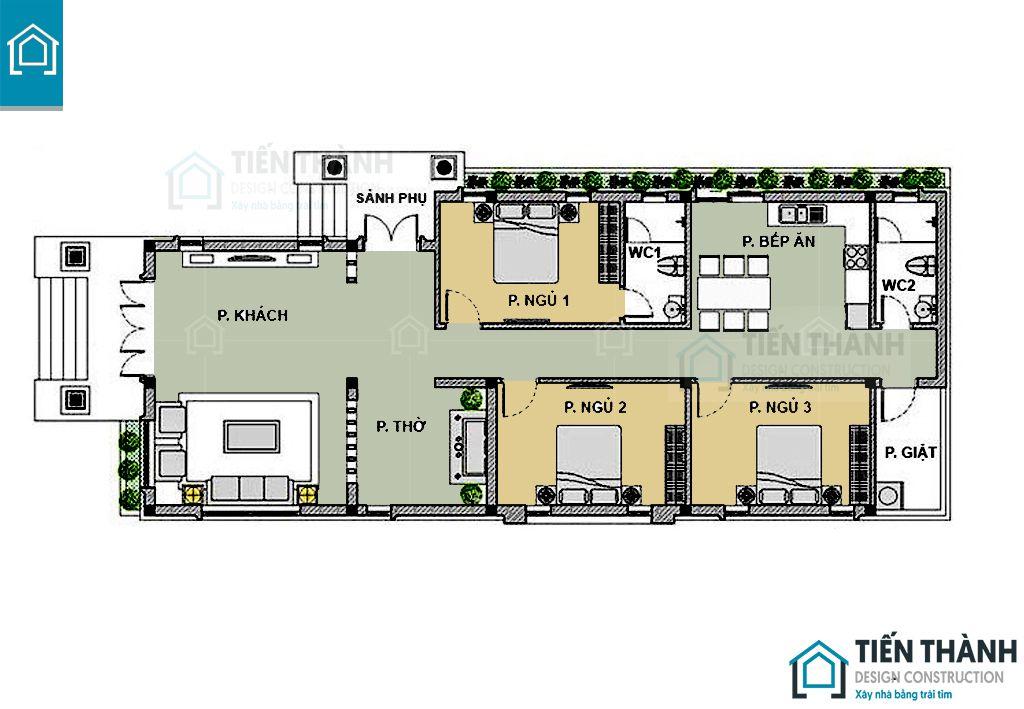 ban ve nha cap 4 3 phong ngu 3 - Tham khảo bản vẽ nhà cấp 4 3 phòng ngủ chi tiết 2020