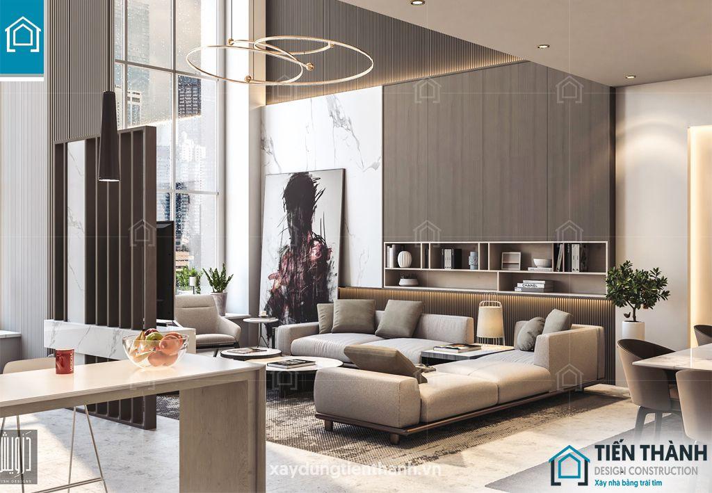 phong khach chung cu dep hien dai 13 - #39 Mẫu phòng khách chung cư ĐẸP phù hợp với thực tế.