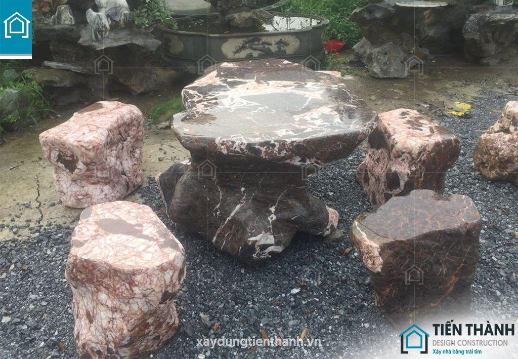 ban ghe da tu nhien 4 - Chiêm ngưỡng các mẫu bộ bàn ghế đá tự nhiên đẹp mê ly