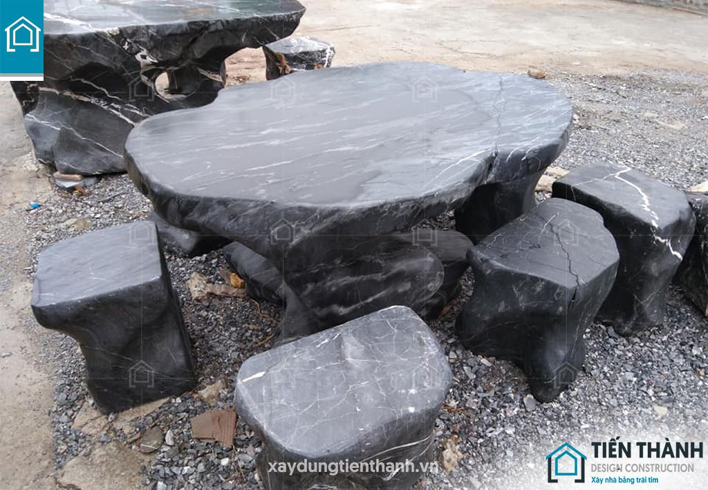 ban ghe da tu nhien 5 - Chiêm ngưỡng các mẫu bộ bàn ghế đá tự nhiên đẹp mê ly