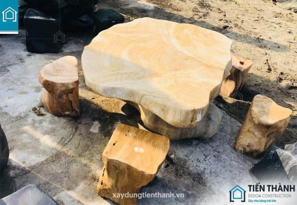ban ghe da tu nhien 578x400 - Chiêm ngưỡng các mẫu bộ bàn ghế đá tự nhiên đẹp mê ly