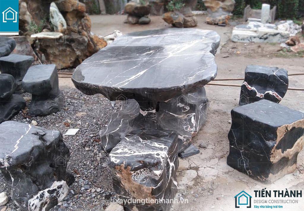 ban ghe da tu nhien 6 - Chiêm ngưỡng các mẫu bộ bàn ghế đá tự nhiên đẹp mê ly