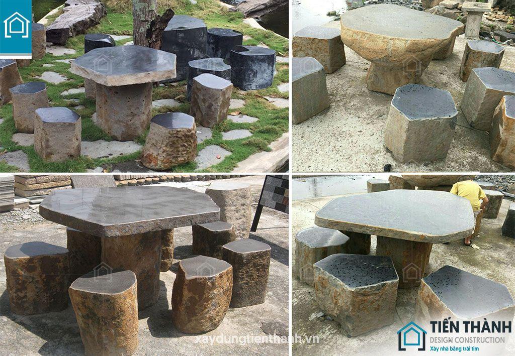 ban ghe da tu nhien 7 - Chiêm ngưỡng các mẫu bộ bàn ghế đá tự nhiên đẹp mê ly