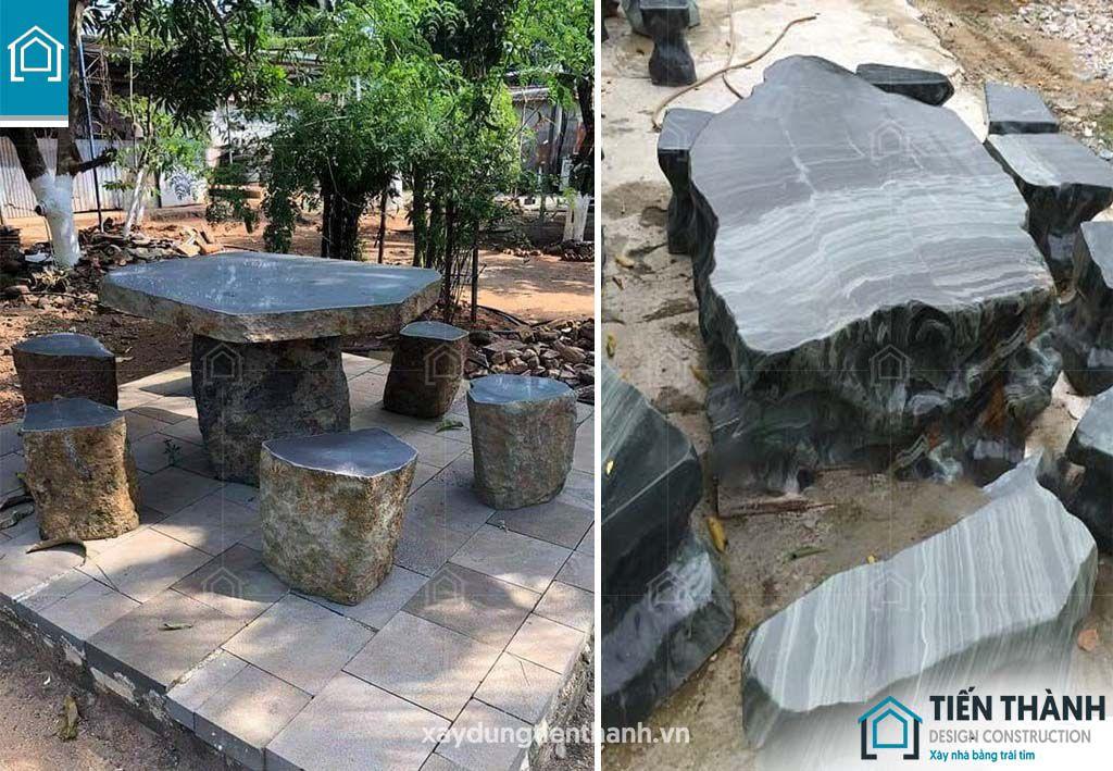 ban ghe da tu nhien 8 - Chiêm ngưỡng các mẫu bộ bàn ghế đá tự nhiên đẹp mê ly
