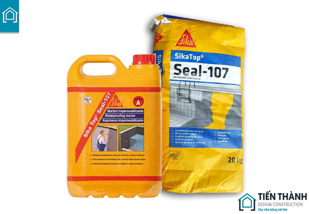 chong tham sikatop seal 107 - Phương pháp Sika chống thấm sàn mái đạt hiệu quả hiện nay