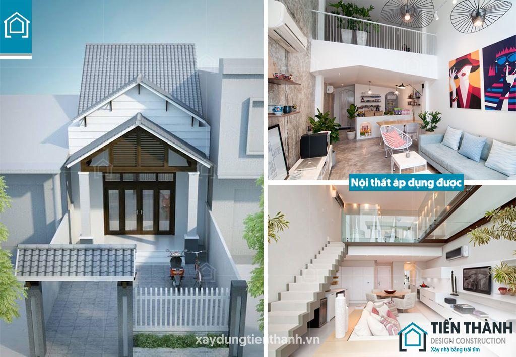 mau nha cap 4 co gac lung 5x20 1 - Những ngôi nhà cấp 4 đẹp nhất hiện đại ở Việt Nam năm 2020