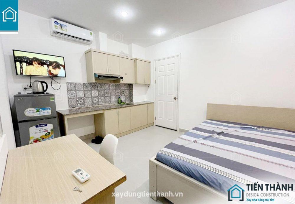 ban ve thiet ke phong tro 15m2 khong gac 1 1000x692 - Bản vẽ thiết kế phòng trọ với diện tích 15m2 tiết kiệm chi phí