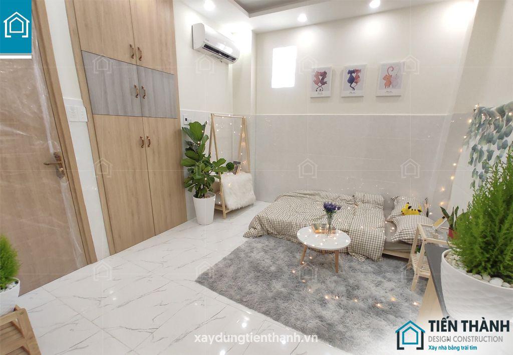 trang tri phong tro sinh vien ngheo khong gac 1 - Cách trang trí phòng trọ sinh viên nghèo thiết kế đẹp